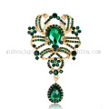 Custom Fashion Costume Jewelry Rhinestone Crystal Pin Brooch